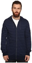 VISSLA Fine Point Yarn-Dye Stripe Zip Fleece Hoodie