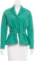 Carolina Herrera Notched-Lapel Draped Jacket