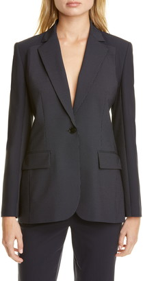 Judith & Charles Alvorada Pinstripe Stretch Wool Suit Jacket