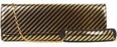 Balenciaga Pochette L striped leather clutch