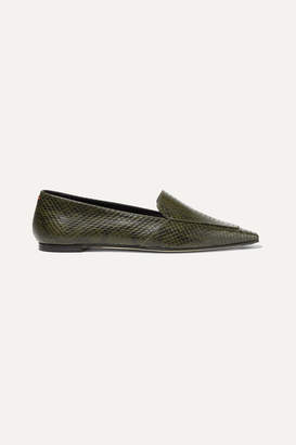 aeydē - Aurora Snake-effect Leather Loafers - Snake print