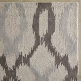 west elm Ikat Links Wool Rug - Frost Gray