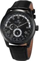 K&S KS Men's Analog Day,24-hour Display Automatic Mechanical Leather Band Wrist Watch KS306