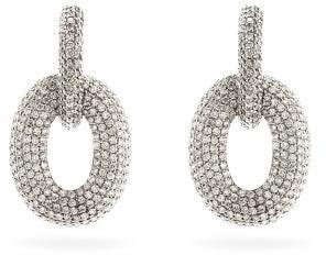 Shay Diamond & 18kt White-gold Door-knocker Earrings - White Gold