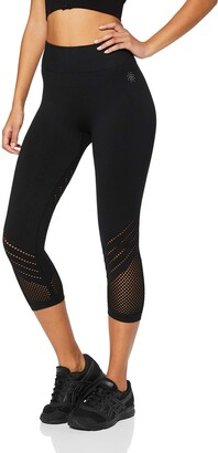 Aurique Amazon Brand Women's Seamless Cropped Sports Leggings