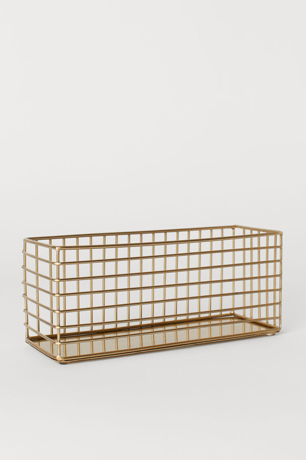 H&M - Metal Wire Basket - Gold