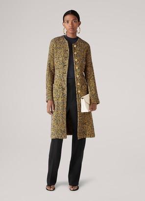 St. John Bicolore Tweed Knit Coat