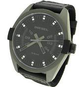 Diesel DZ1489 Men's Sandblasted Gunmetal IP Black Dial Black Canvas Fabric Strap Quartz Watch