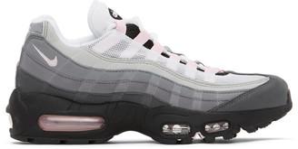 Nike Grey and Pink Air Max 95 Premium Sneakers