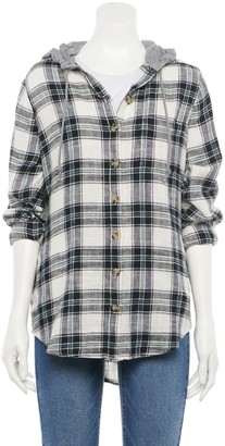 So Juniors' Tunic Flannel with Hood