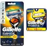Gillette Fusion ProGlide Power Men's Razor with FlexBall Handle Technology + 8 Count Fusion ProShield Men's Razor Blade Refills