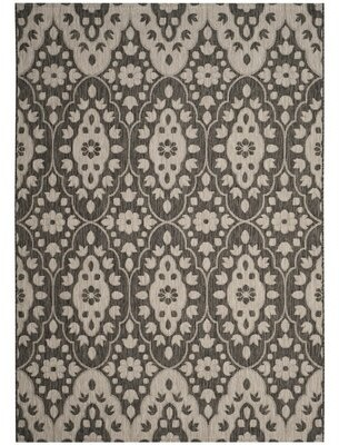 Martha Stewart Regal Black/Beige Area Rug Rug Size: Rectangle 9' x 12'