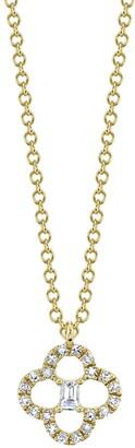 Ron Hami 14K Yellow Gold Diamond & Baguette Cut Clover Pendant Necklace - 0.11 ctw