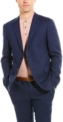 Ermenegildo Zegna 2Pc Linen Suit With Flat Pant
