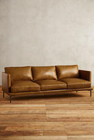 Anthropologie Leather Linde Sofa