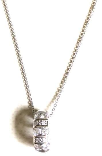 Damiani Bliss by 'Cabaret' 18K White Gold 10 Diamond Necklace