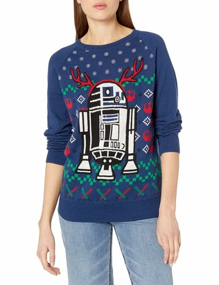 Star Wars Hybrid Apparel Women's R2d2 Holiday Sweater with Music