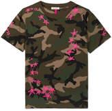 Valentino - + Zandra Rhodes Camouflage-print Cotton-jersey T-shirt