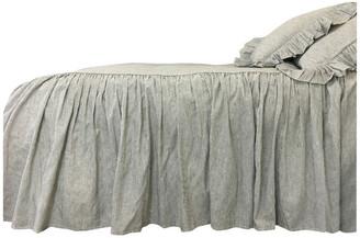 Superior Custom Linens Black and White Ticking Striped Bedspread, California King 3-Piece Set