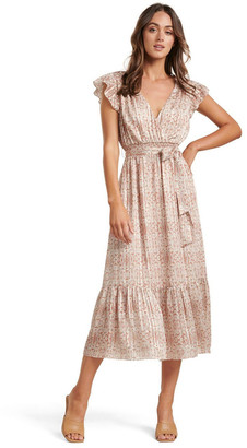 Forever New Marni Shirred Tiered Dress