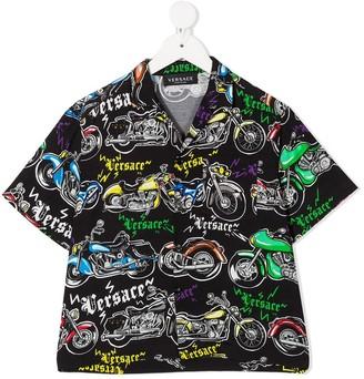 Versace Motorcycle-Print Shirt