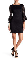 Hip Bell Sleeve Lace Bodycon Dress