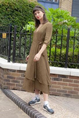 MBYM Bibbi Zarella Military Olive Dress - XS