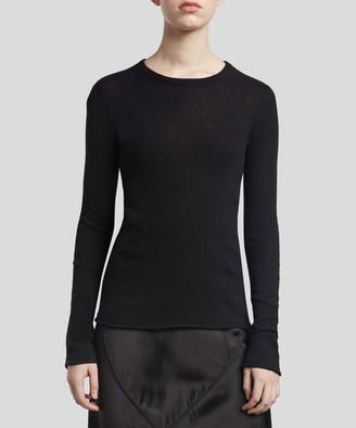 Atm Cashmere Crew Neck Sweater - Black