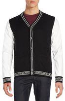 Versace Contrast Sleeve Cardigan