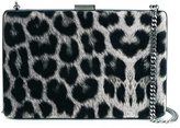 Stella McCartney leopard pattern box clutch