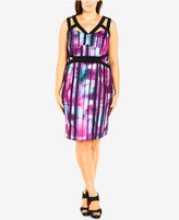 City Chic Plus Size Printed Cutout Bodycon Dress