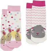 Joules Baby Girls Two Pack Character Socks - Farm