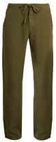 120% Lino Drawstring-waist linen trousers