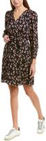 Rebecca Taylor Cheetah Silk-Blend A-Line Dress
