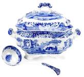 Spode Blue Italian Soup Tureen with Ladle