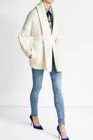 Burberry Belted Wool Cardigan with Cashmere