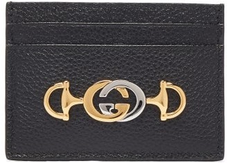 Gucci Zumi Leather Cardholder - Black