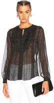 L'Agence Tabitha Stars Top in Black,Geometric Print.