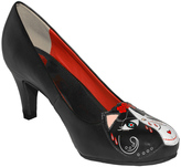 T.U.K. Black & Red Day of the Dead Kitty Pump