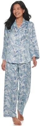 Miss Elaine Women's Essentials Satin 2-Piece Pajama Set