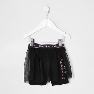 River Island Mini girls Black cycle short tutu