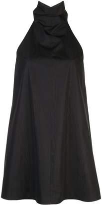 Cushnie stand-up collar dress
