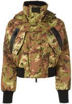 DSQUARED2 Ski camouflage bomber jacket - women - Polyamide/Polyester/Spandex/Elastane/Goose Down - 40