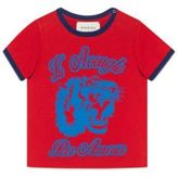 Gucci Baby Boy's Tiger-Print Cotton Tee