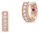 Roberto Coin Symphony 18K Rose Gold Diamond Princess Hoop Earrings, 0.21 TCW