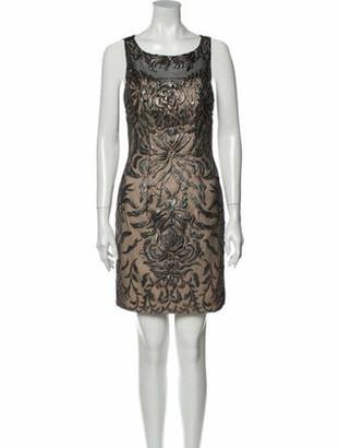 Jovani Patterned Mini Dress w/ Tags Black