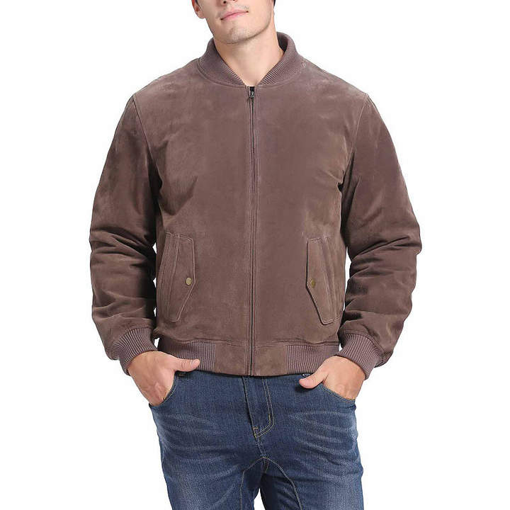 Asstd National Brand Wallace Suede Bomber Jacket Big