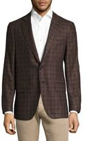 Isaia Plaid Regula-Fit Blazer