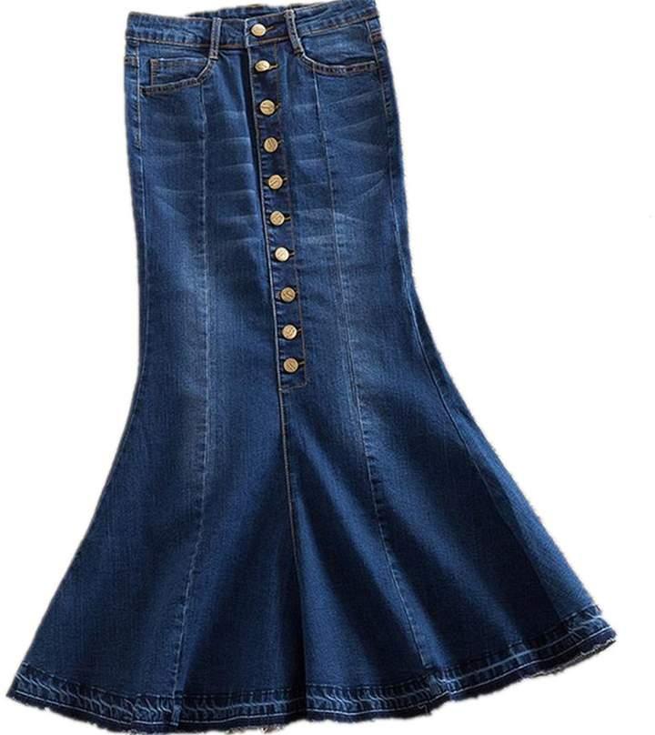 c7531d70bb Long Denim Skirt - ShopStyle Canada