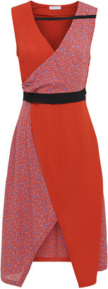 2nd Day 2ND Francine Camo sleeveless dress in Mandarin Red - UK8 - Blue/Red